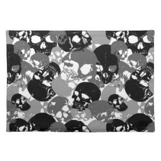 Skull Black&White Placemat
