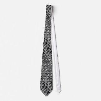 Skull Black&White Tie