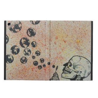 skull blowing earth iPad air cover