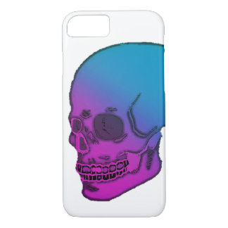 Skull blue and pink neon look! iPhone 8/7 case