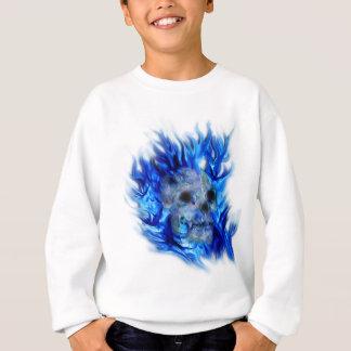 SKULL & BLUE FLAMES Aaryn Steele Art Shirt