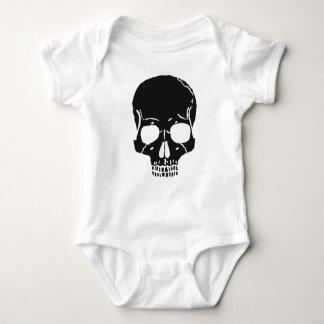 Skull Bone Bones Skeleton Skeletal Creepy Spooky Baby Bodysuit