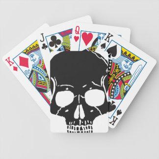 Skull Bone Bones Skeleton Skeletal Creepy Spooky Bicycle Playing Cards