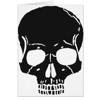 Skull Bone Bones Skeleton Skeletal Creepy Spooky Card