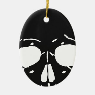Skull Bone Bones Skeleton Skeletal Creepy Spooky Ceramic Ornament