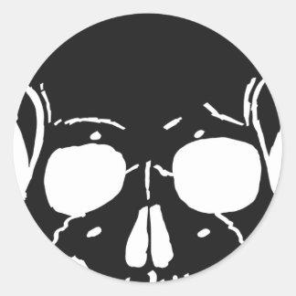 Skull Bone Bones Skeleton Skeletal Creepy Spooky Classic Round Sticker