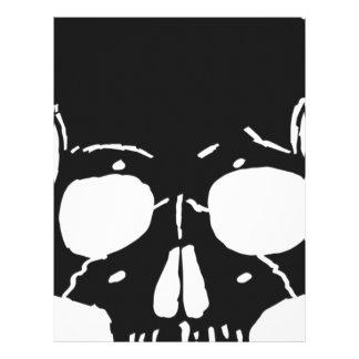 Skull Bone Bones Skeleton Skeletal Creepy Spooky Letterhead