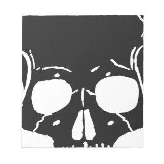Skull Bone Bones Skeleton Skeletal Creepy Spooky Notepad