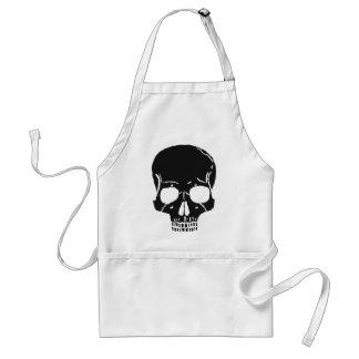 Skull Bone Bones Skeleton Skeletal Creepy Spooky Standard Apron