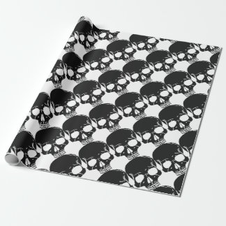Skull Bone Bones Skeleton Skeletal Creepy Spooky Wrapping Paper