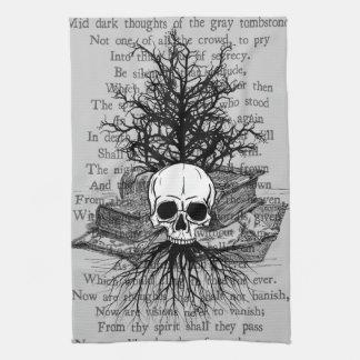 Skull & Books Kitchen Towels