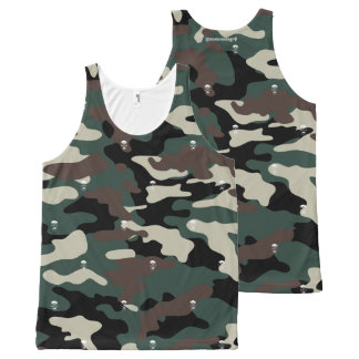 Skull Camo All-Over-Print Tank Top