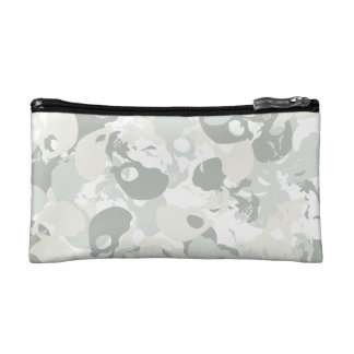 Skull camouflage cosmetic bag