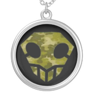Skull Camp Kid Logo Silver Plated Necklace