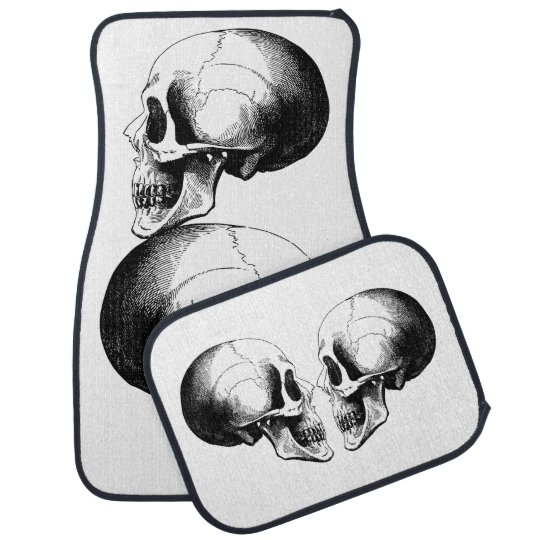 Skull Car Floor Mats (Full Set) Car Floor Carpet