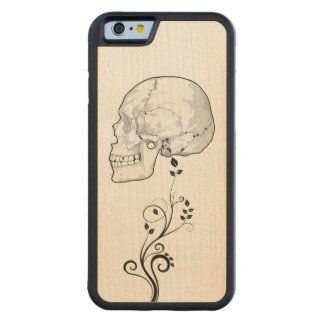 Skull Carved Maple iPhone 6 Bumper Case