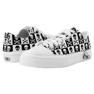 Skull Checkerboard Shoes