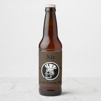 Skull Chef - Ale Beer Bottle Label