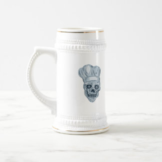 Skull Chef Cook Drawing Beer Stein