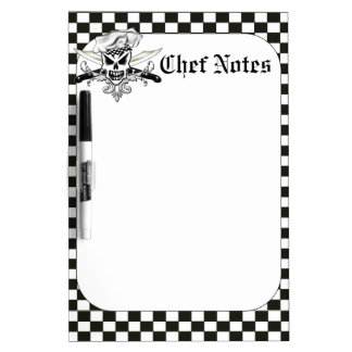 Skull Chef Dry Erase Board