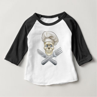 Skull Chef Pirate Cartoon Baby T-Shirt