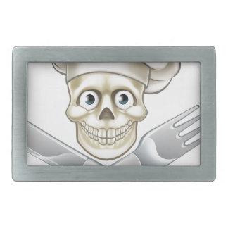 Skull Chef Pirate Cartoon Belt Buckle