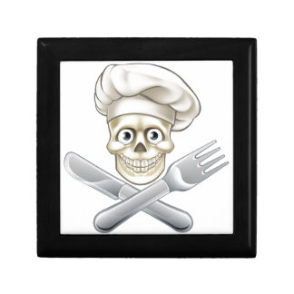Skull Chef Pirate Cartoon Gift Box
