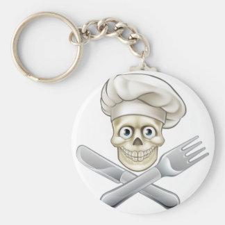 Skull Chef Pirate Cartoon Keychain