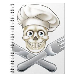 Skull Chef Pirate Cartoon Notebooks