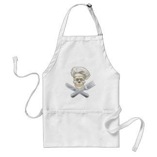Skull Chef Pirate Cartoon Standard Apron