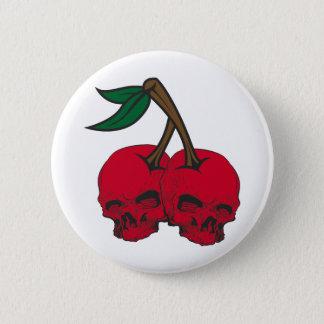 Skull Cherries 2 Inch Round Button