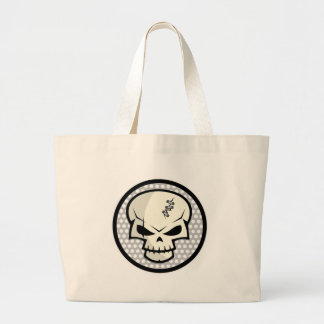 SKULL-COIN LARGE TOTE BAG