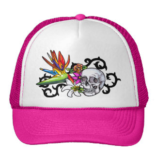 Skull copy trucker hat