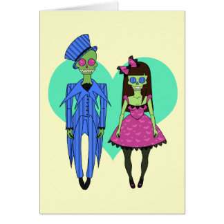 Skull Couple Card