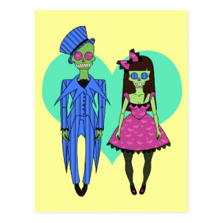 Skull Couple Postcard