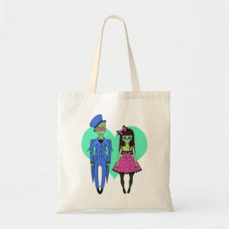 Skull Couple Tote Bag
