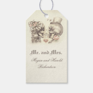 Skull Couple Vintage Wedding Pack Of Gift Tags