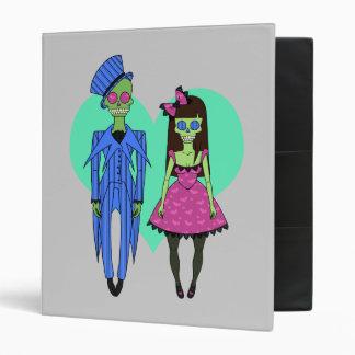 Skull Couple Vinyl Binder