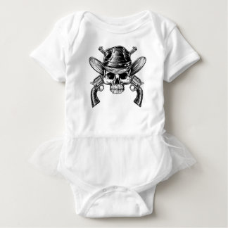 Skull Cowboy and Guns Baby Bodysuit
