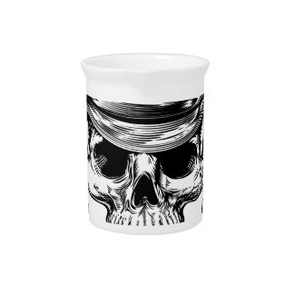 Skull Cowboy and Guns Beverage Pitcher