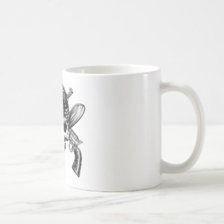 Skull Cowboy and Guns Coffee Mug