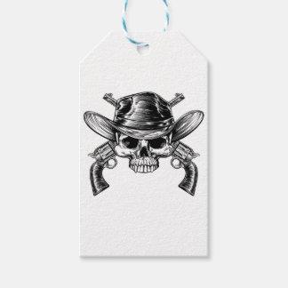 Skull Cowboy and Guns Pack Of Gift Tags