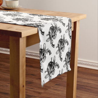 Skull Cowboy and Guns Short Table Runner