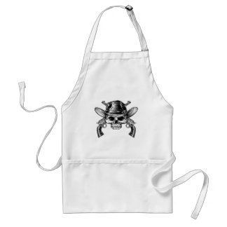 Skull Cowboy and Guns Standard Apron