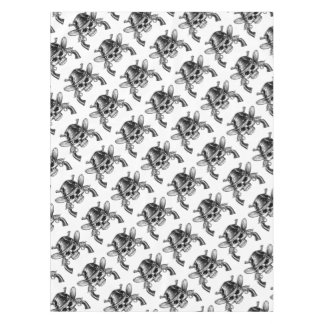 Skull Cowboy and Guns Tablecloth