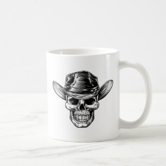 Skull Cowboy Hat Drawing Coffee Mug