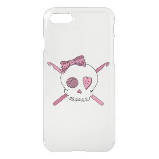 Skull & Crochet Hooks (Hair Bow) iPhone 7 Case