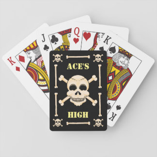 Skull & Crossbones Aces High Playing Cards