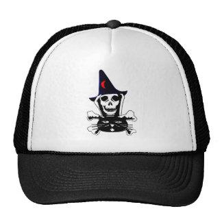 Skull, Crossbones, and Cat Trucker Hat