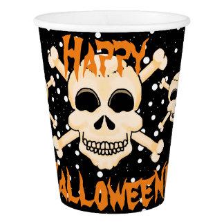 Skull & Crossbones Halloween Paper Cups